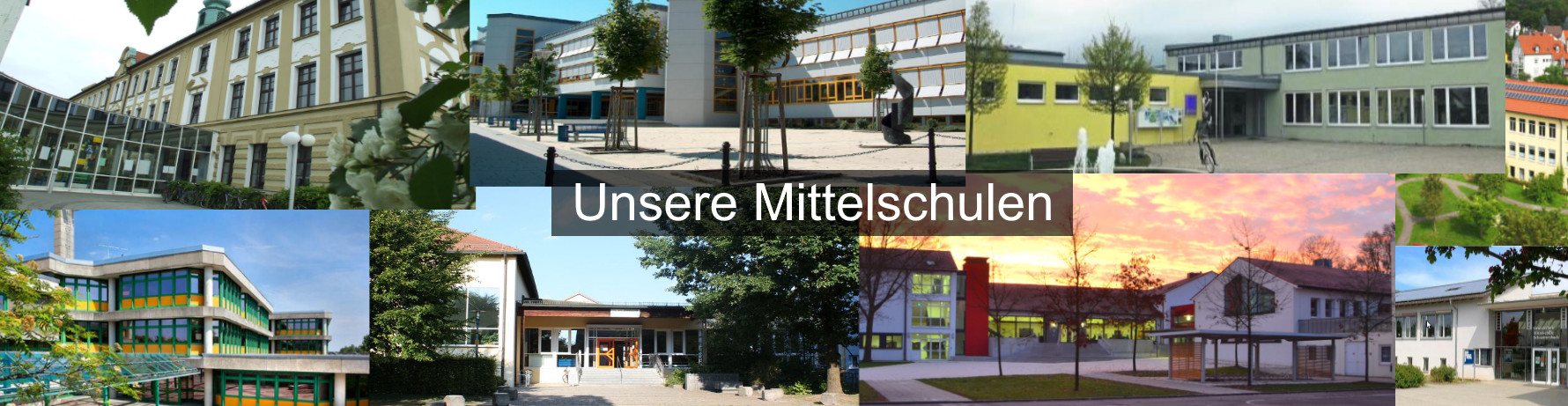 Schulgebaeude Collage